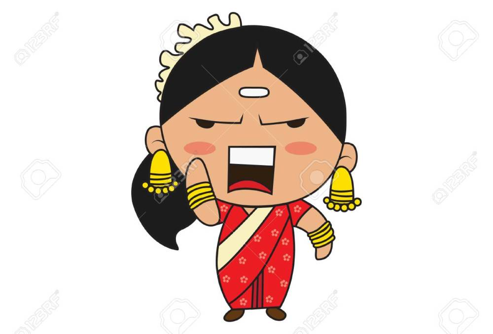 115430449-vector-cartoon-illustration-of-south-indian-woman-angry-isolated-on-white-background-